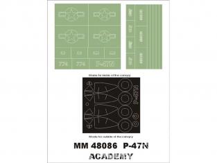 Montex Maxi Mask MM48086 P-47N Thunderbolt Academy 1/48