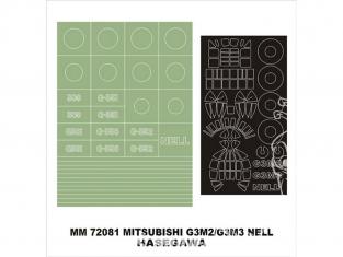 Montex Maxi Mask MM72081 G3M2 / G3M3 Nell Hasegawa 1/72