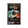 Atlantis maquette Espace AMC-1005 EVTFS UFO Silver clair Edition led avec Toile de Fond