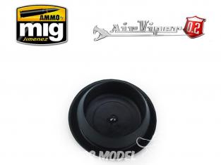 MIG pièce aérographe 8670 Couvercle de godet en PVC AirViper