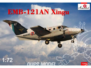 "Amodel maquettes avion 72364 EMBRAER EMB-121AN ""XINGU"" MARINE NATIONALE FRANCE 2016 1/72"