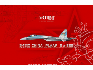 """Great Wal Hobby maquette avion S4810 China PLAAF SU-35S """"Flanker E""""  Force Edition limitée 1/48"""