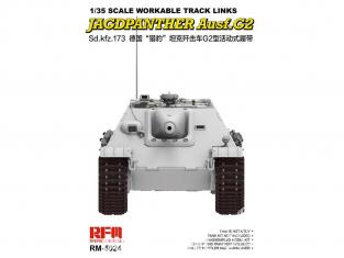 Rye Field Model maquette militaire 5024 Chenilles Sd.Kfz.173 Jagdpanther (Chenilles maillon par maillon) 1/35