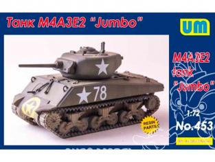 "Unimodel maquette militaire 453 M4A3E2 ""SHERMAN"" TANK ""JUMBO"" 1944 1/72"