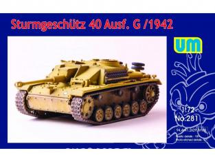UM Unimodels maquettes militaire 281 STURMGESCHUTZ 40 Ausf G 1942  1/72
