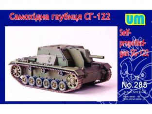 UM Unimodels maquettes militaire 285 SG-122 Canon automoteur 1943  1/72