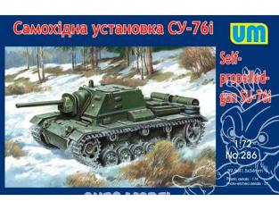 UM Unimodels maquettes militaire 286 SU-76i CANON AUTOMOTEUR ANTI-CHARS SOVIÉTIQUE 1943 1/72