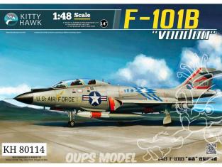 """Kitty Hawk maquette avion 80114 Mc DONNELL F-101B/RF-101B """"VOODOO"""" 1962 1/48"""
