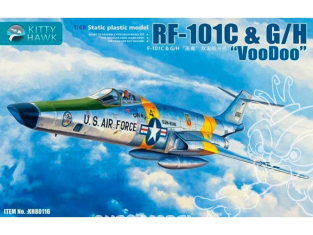"Kitty Hawk maquette avion 80116 Mc DONNELL RF-101C G/H ""VOODOO"" 1970 1/48"