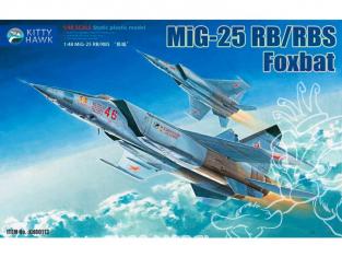 """Kitty Hawk maquette avion 80113 MIG-25 RB/RBS """"FOXBAT"""" D 2005  1/48"""