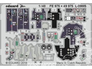EDUARD photodecoupe avion FE975 Zoom Amélioration L-39MS Trumpeter 1/48