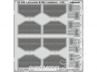 Eduard photodécoupe avion 32436 Radiateurs Lancaster B Mk.I Hk Models 1/32