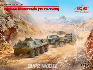 Icm maquette militaire DS72201 Défilé afghan (1979-1989) (URAL-375D, URAL-375A, ATZ-5-375, BTR-60PB) 1/72