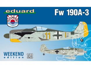 EDUARD maquette avion 84112 Focke Wulf Fw 190A-3 WeekEnd Edition 1/48