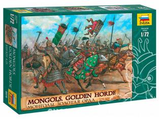 Zvezda maquette figurines 8076 Mongols Horde d'Or 1/72