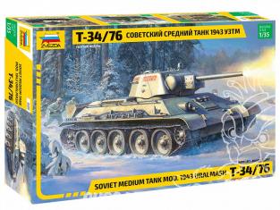 Zvezda maquette militaire 3689 Char moyen soviétique T-34/76 1943 UZTM 1/35