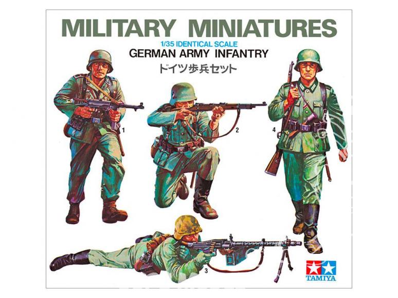 TAMIYA maquette militaire 35002 Kit d'infanterie de l'armée allemande WWII 1/35