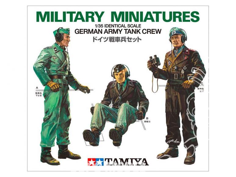 TAMIYA maquette militaire 35001 Équipage de chars de l'armée allemande WWII 1/35