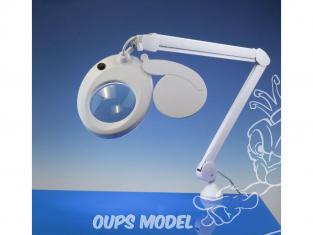 LightCraft LC8076LED Loupe avec bras articulé extensible avec lampe a Led