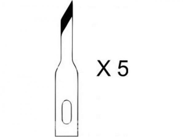 HOLI outillage 354 lot de 5 lames petites oblique pour couteau 1