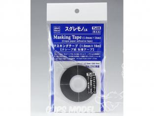 HASEGAWA TL109 Ruban de masquage (1 mm × 16 m) Ruban adhésif en papier crêpé