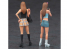 Hasegawa maquette voiture 29102 90's Filles avec bottes Figurine (jeu de 2 pièces) 1/24