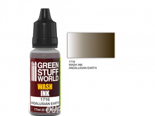 Green Stuff 1716 Encre Wash ANDALUSIAN EARTH 17ml