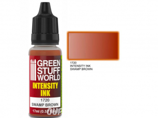 Green Stuff 1720 Encre d'Intensité SWAMP BROWN 17ml