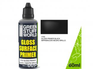 Green Stuff 501025 Primaire Gris Mat 60ml25 Primaire Noir Brillant 60ml