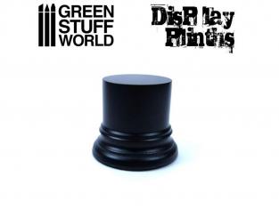 Green Stuff 501711 Socle Cylindre Ouvragé 4,5 cm Noir