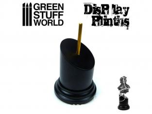 Green Stuff 501759 Socle Rond Bustes 5x5 cm Noir