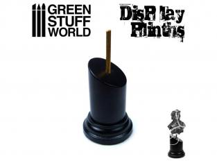 Green Stuff 501742 Socle Rond Bustes 3,5x3,5 cm Noir