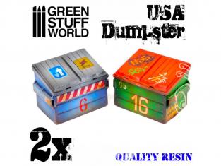 Green Stuff 503364 Conteneurs Américains en resine