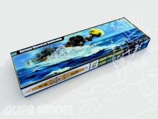 Trumpeter maquette bateau 03702 CUIRASSE ALLEMAND BISMARCK 1940 1/200