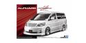 Aoshima maquette voiture 52150 Silk Blaze MNH / ANH10 / 15W Alphard 2005 Toyota 1/24