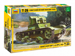 Zvezda maquette militaire 3542 Char léger soviétique T-26 (modèle 1932) 1/35