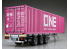 Aoshima maquette camion 55847 Remorque Container 40 Pieds Nippon Trex / Ocean Network Express 1/32