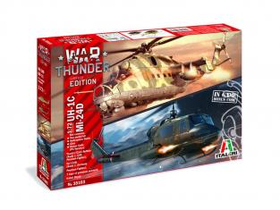 Italeri maquette avion 35103 WAR THUNDER UH-1C & MI-24D 1/72