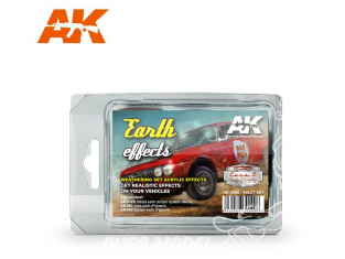 Ak Interactive Set Weathering AK8089 Set rallye - Effets Terre 3 x 35ml
