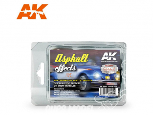 Ak Interactive Set Weathering AK8090 Set course - Effets Asphalte 3 x 35ml