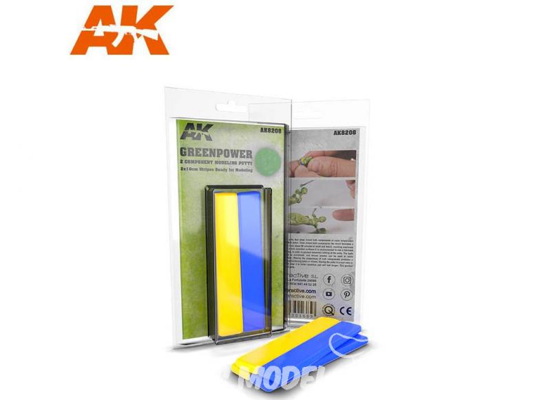 AK interactive ak8208 Mastic Bi-composant Greenpower 2 x 10cm