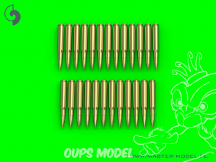 Master Model GM-35-023 Munitions Browning calibre .50 12,7mm cartouches x25 1/35