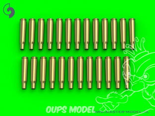 Master Model GM-16-001 Browning .50 calibre (12.7mm) douilles vides (25pcs) 1/16