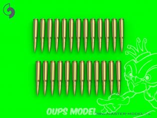 Master Model GM-16-002 Browning .50 calibre (12.7mm) cartouches (25pcs) 1/16