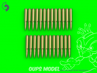 Master Model GM-16-004 M1919 Browning .30 caliber (7.62mm) cartouches (25pcs) 1/16
