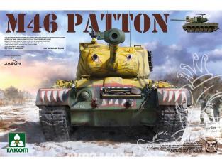 Takom maquette militaire 2117 US MEDIUM TANK M-46 PATTON GUERRE DE CORÉE 1953 1/35
