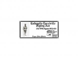 Copper State Models personel F32-033 AS DE L'ESCADRILLE LAFAYETTE WWI 1/32