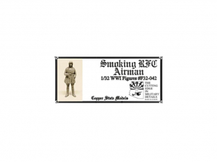 Copper State Models personel F32-042 AVIATEUR DU ROYAL FLYING CORPS FUMANT UNE CIGARETTE WWI 1/32