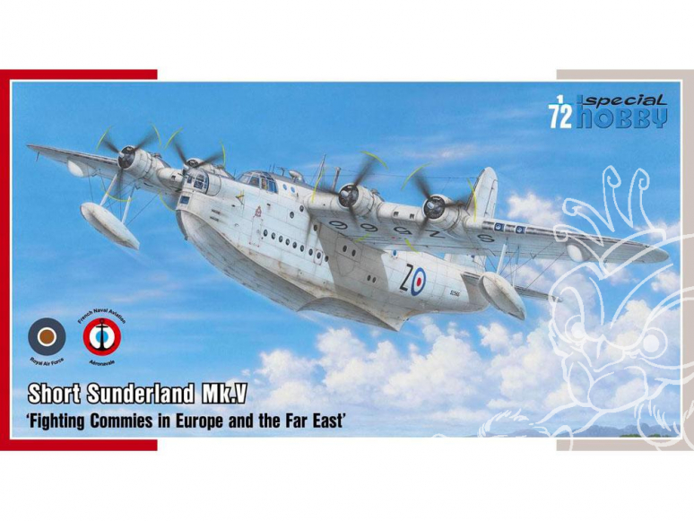 Special Hobby maquette avion 72162 SHORT SUNDERLAND Mk. V HYDRAVION LOURD RAF et AÉRONAVALE FRANÇAISE 1945 1/72