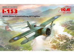 Icm maquette avion 32012 I-153 Combattant AF Guomindang WWII 1/32